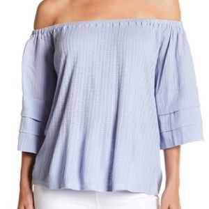 Lucky brand tiered sleeve off shoulder top S